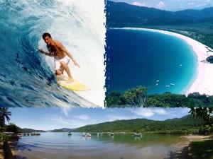 Hamrende smuk oe, med vel nok en af verdens bedste strande for surfing! Ilha Grande - Lopes Mendes